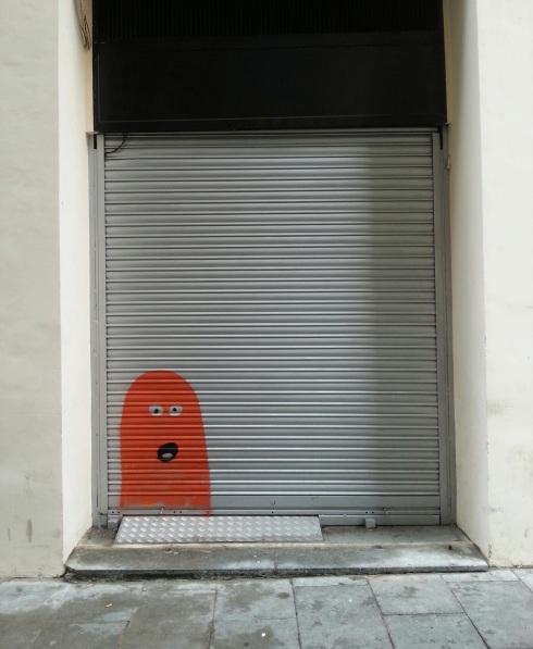 Childlike street art in Barcelona